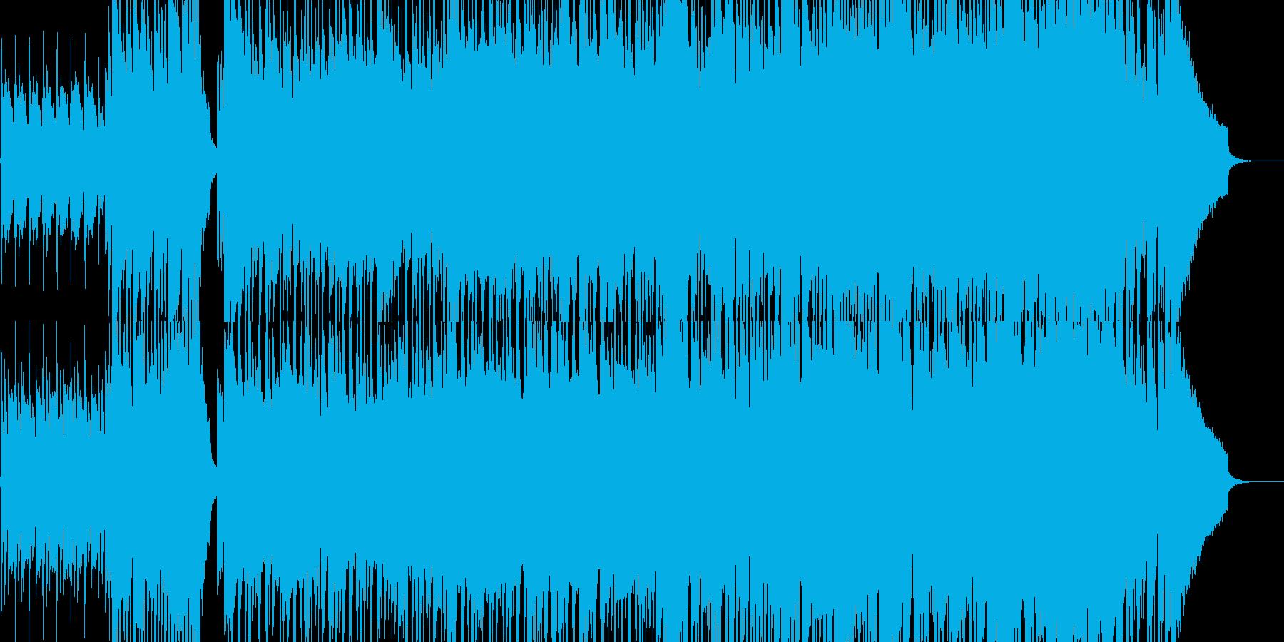 和楽器を使ったロック調ジングルの再生済みの波形