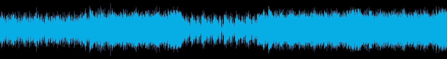 おしゃれでわくわくする映像用和風ディスコの再生済みの波形