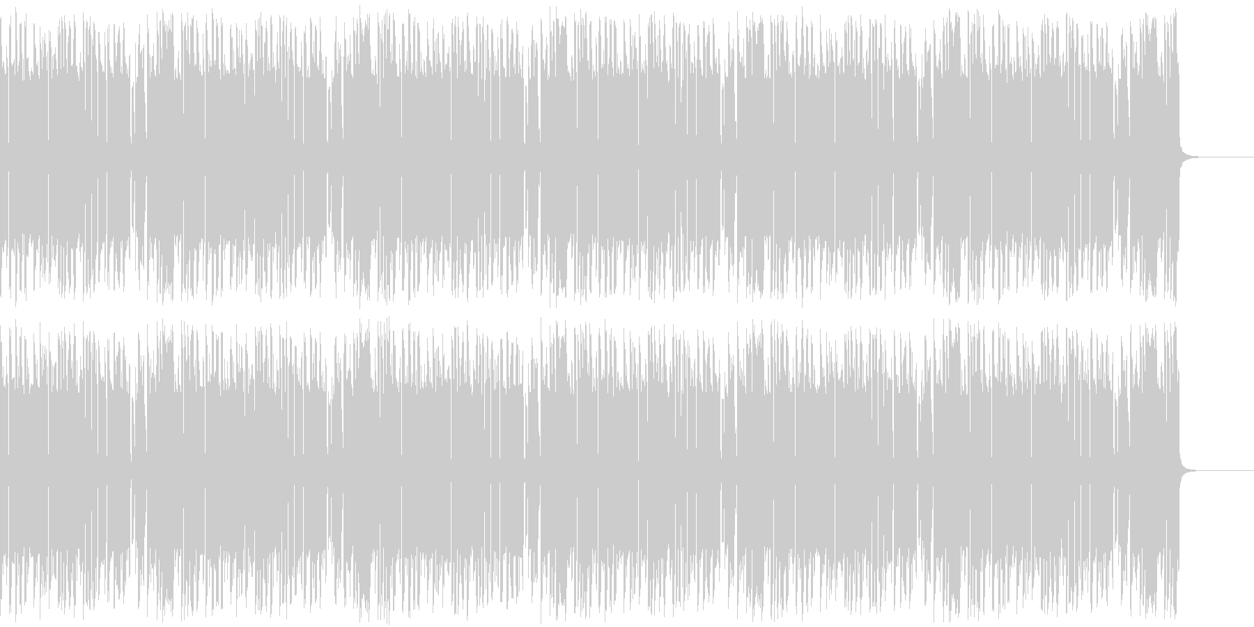 レトロゲームっぽいBGMの未再生の波形