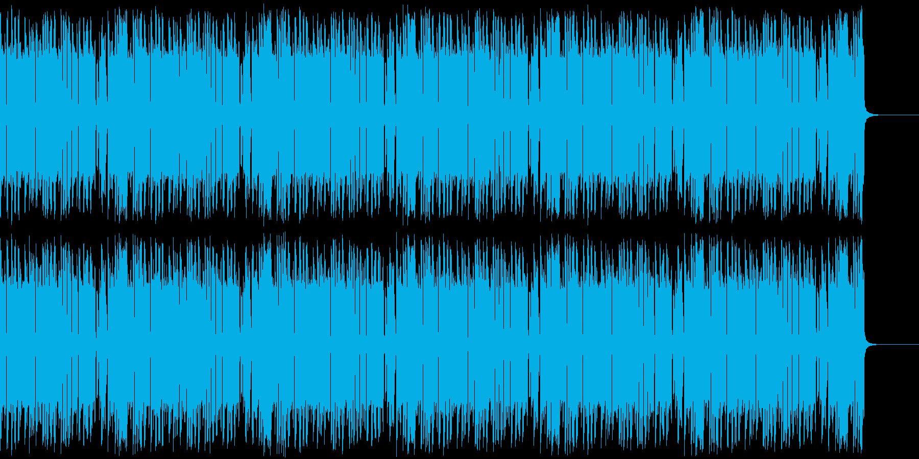 レトロゲームっぽいBGMの再生済みの波形