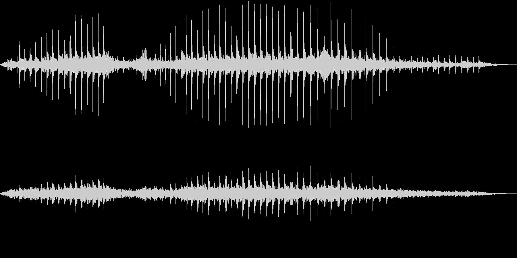 【生録音】コウノトリのクラッタリングの音の未再生の波形