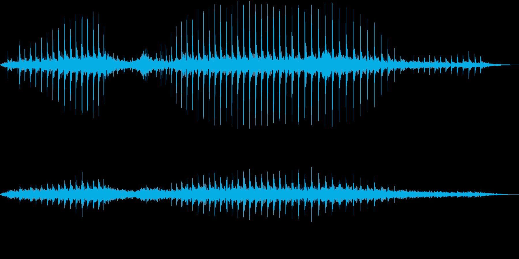 【生録音】コウノトリのクラッタリングの音の再生済みの波形