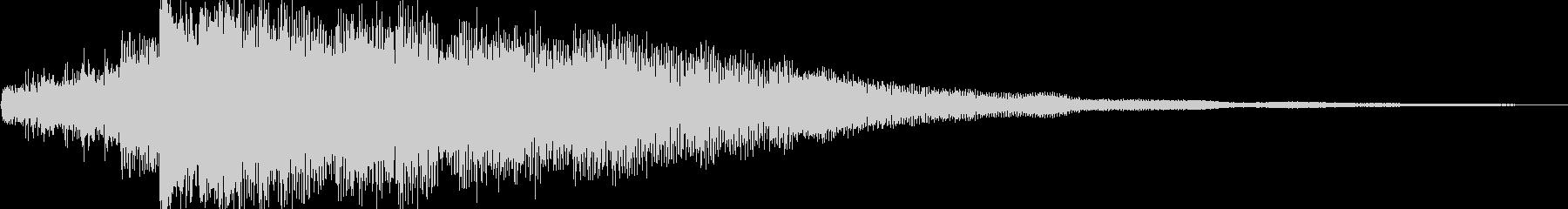 ピアノ/アンビエント/静寂/サウンドロゴの未再生の波形