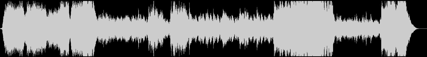 重厚なファンタジー系BGMの未再生の波形