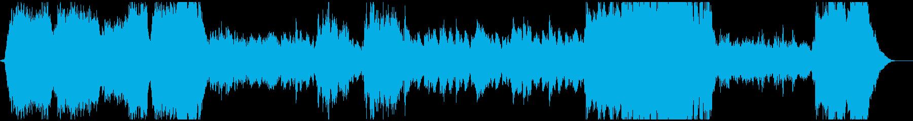 重厚なファンタジー系BGMの再生済みの波形