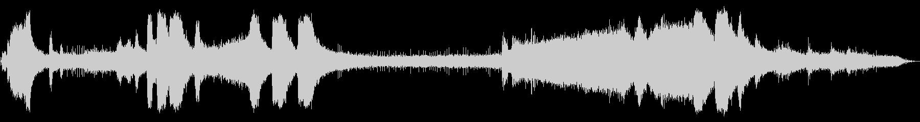 ガスチェーンソー:開始、回転数でア...の未再生の波形