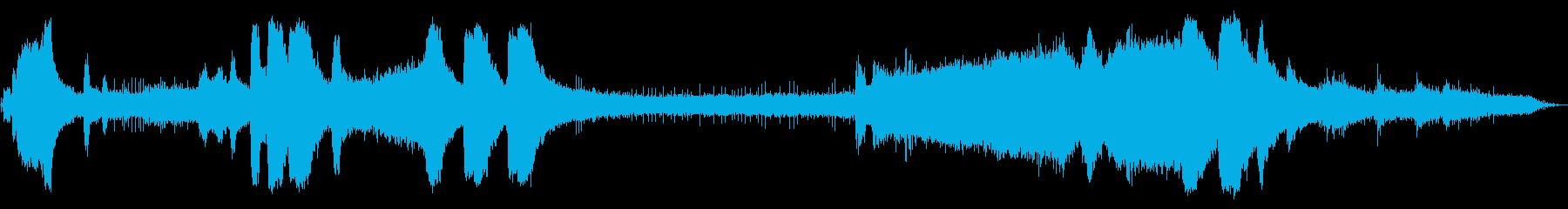 ガスチェーンソー:開始、回転数でア...の再生済みの波形