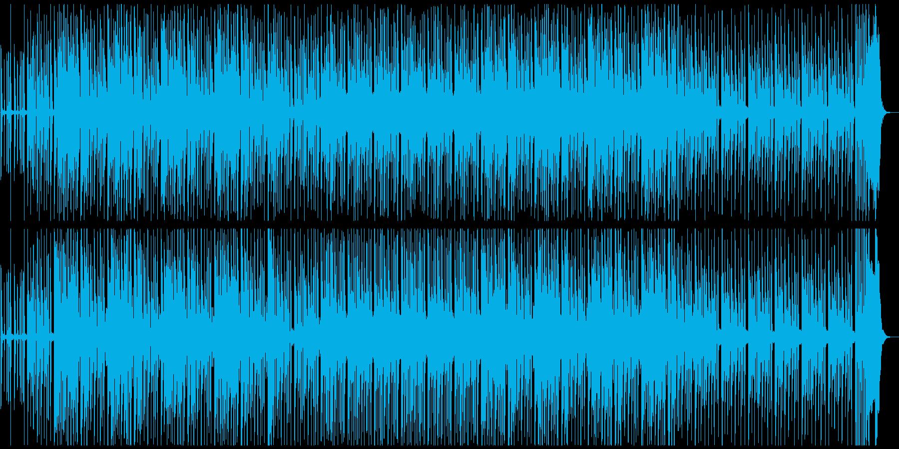 ちょっとコミカルなメディア系、愉快、声の再生済みの波形