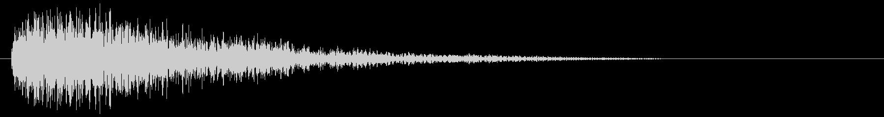 ベルベルチャイムとLFE、リバーブの未再生の波形