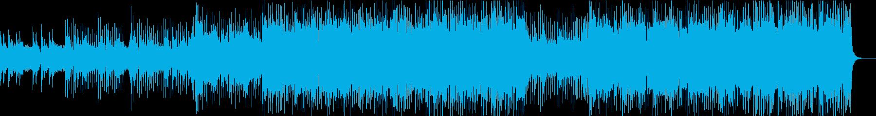 フルートとヴァイオリンの明るい欧風BGMの再生済みの波形