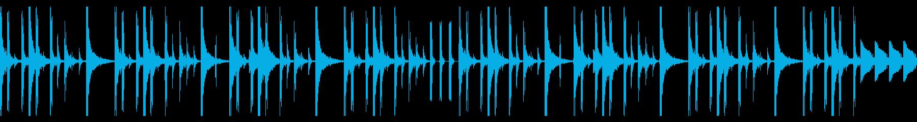 80sのHiphopを意識したビートの再生済みの波形