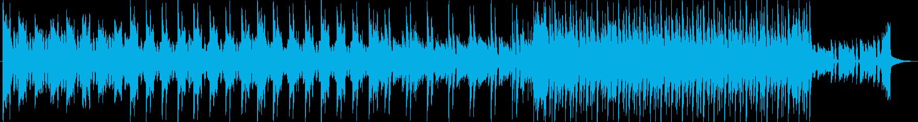 ドローン撮影などの風景動画に合うBGMの再生済みの波形