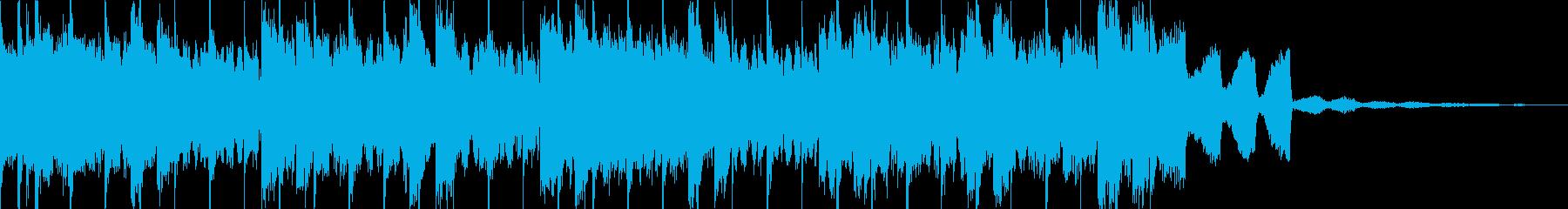 期待感のあるEDMジングルの再生済みの波形