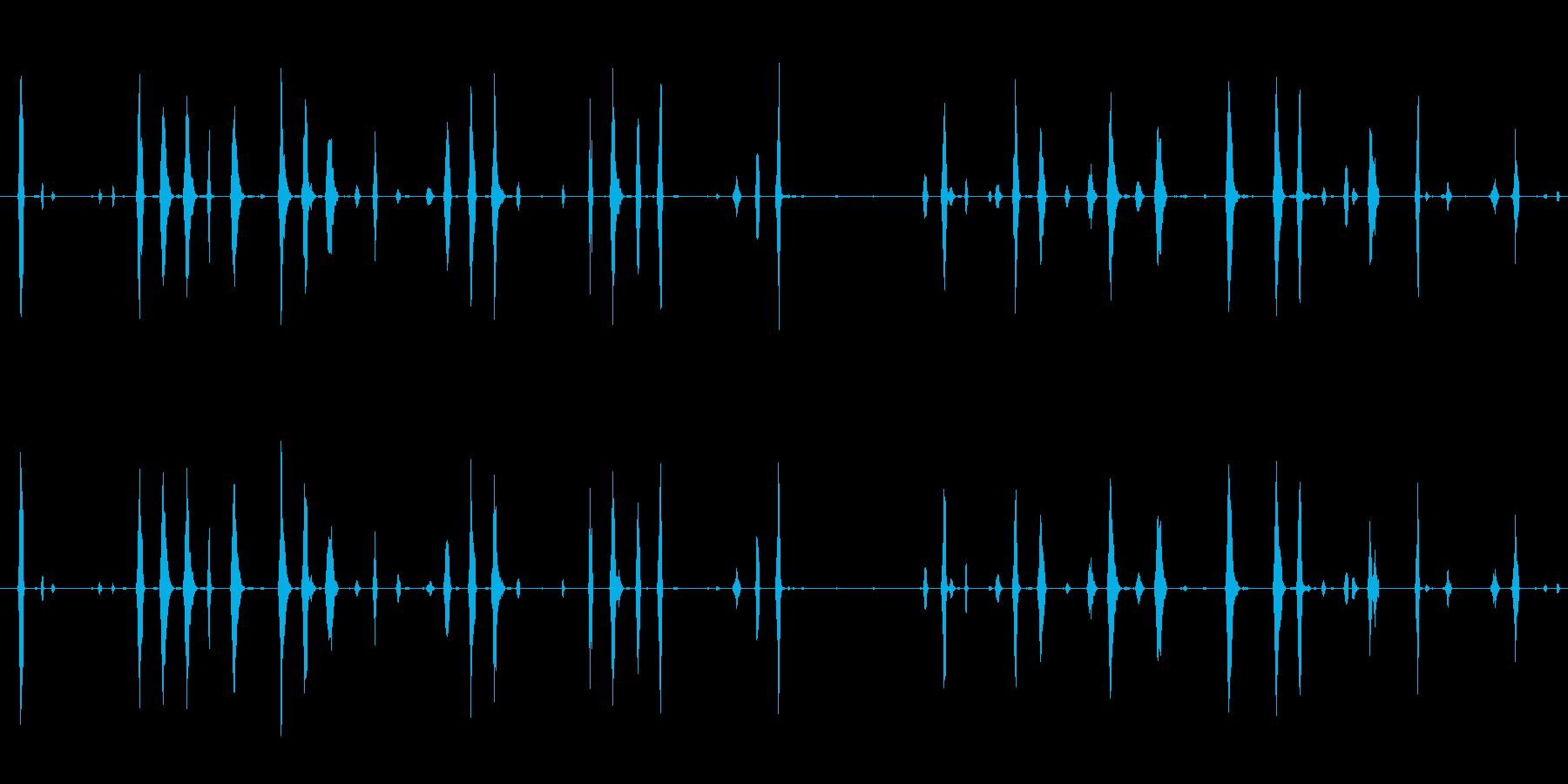 イメージ 電子鳥チャープロング02の再生済みの波形