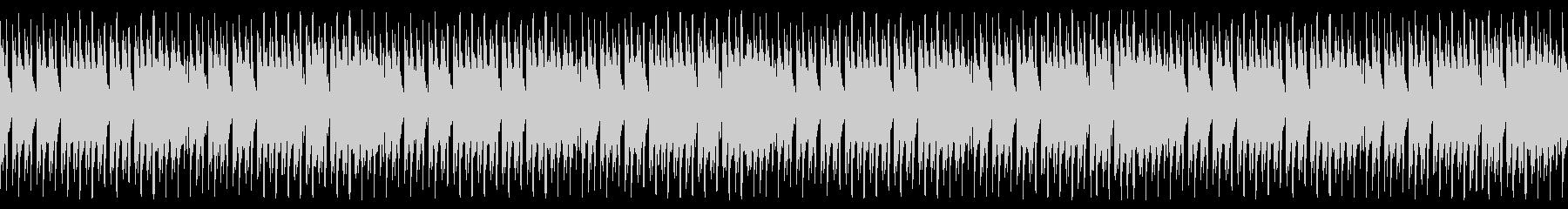 ポップな雰囲気の4つ打ちループ音源の未再生の波形