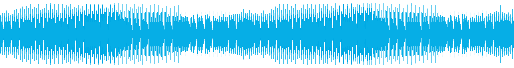 ポップな雰囲気の4つ打ちループ音源の再生済みの波形