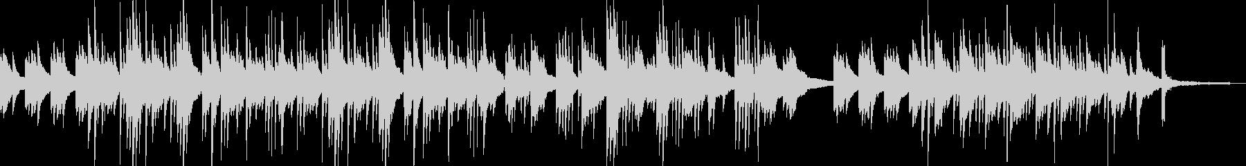 しっとりしたピアノの切ない曲の未再生の波形