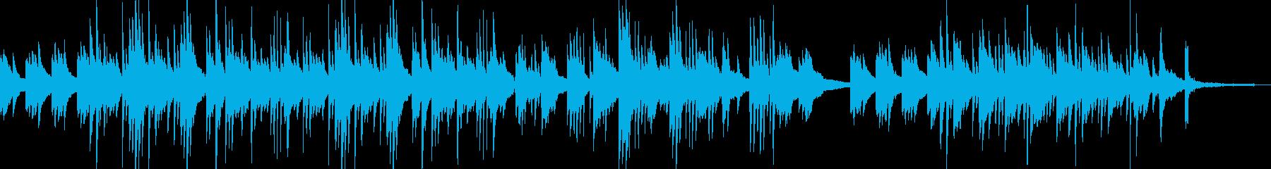 しっとりしたピアノの切ない曲の再生済みの波形