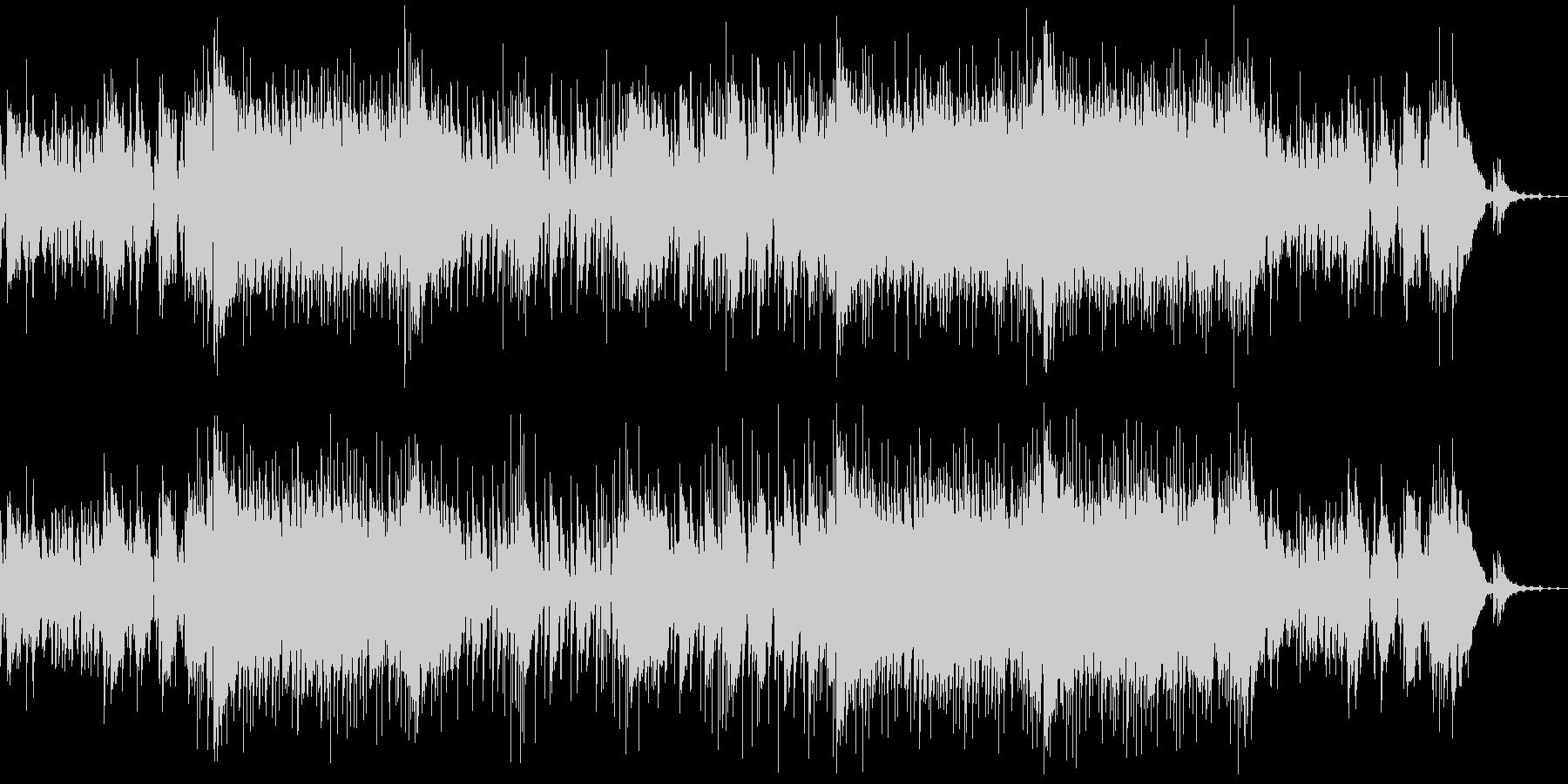 楽しい夏を演出する生演奏ウクレレ曲の未再生の波形