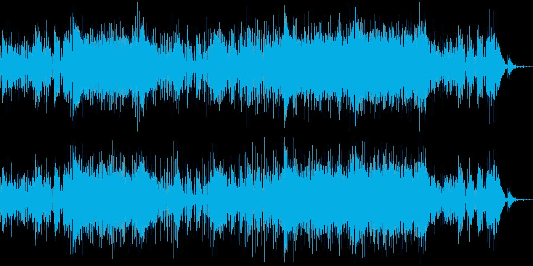 楽しい夏を演出する生演奏ウクレレ曲の再生済みの波形