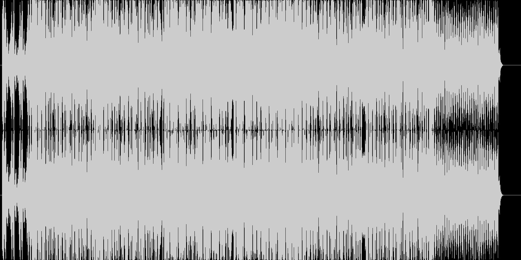 キレのあるシンセとベースの爽快なEDMの未再生の波形