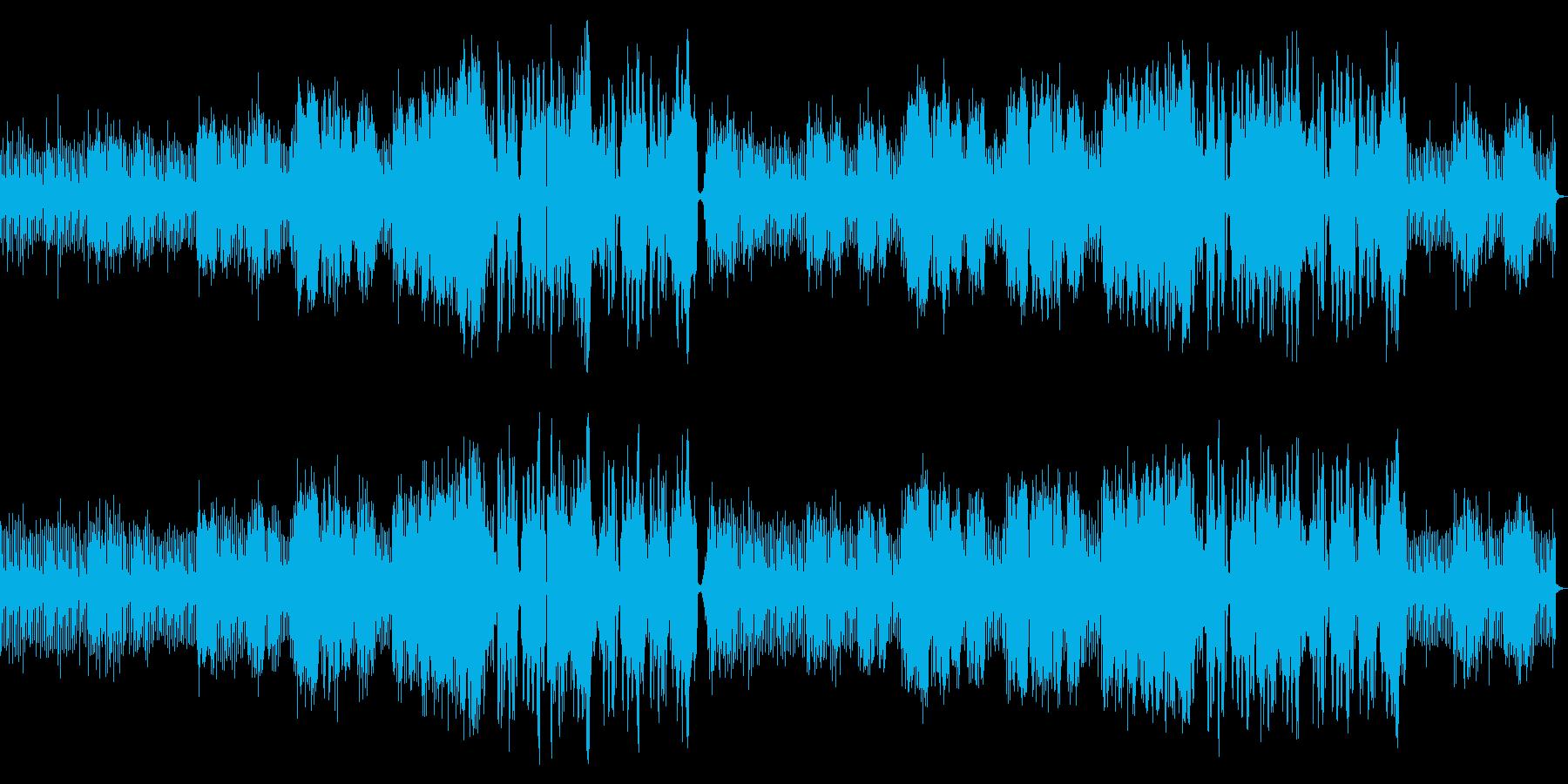 緊迫した雰囲気のEDM曲です。の再生済みの波形