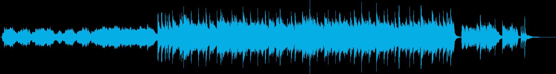 晴れやかなインスト曲の再生済みの波形