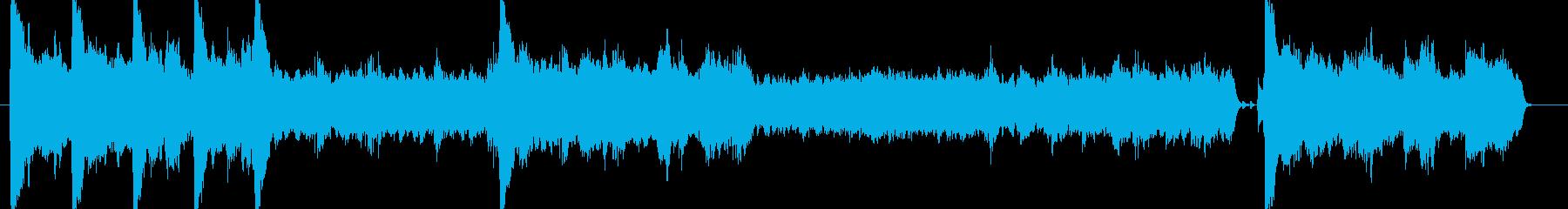 絶望を感じさせる楽曲の再生済みの波形