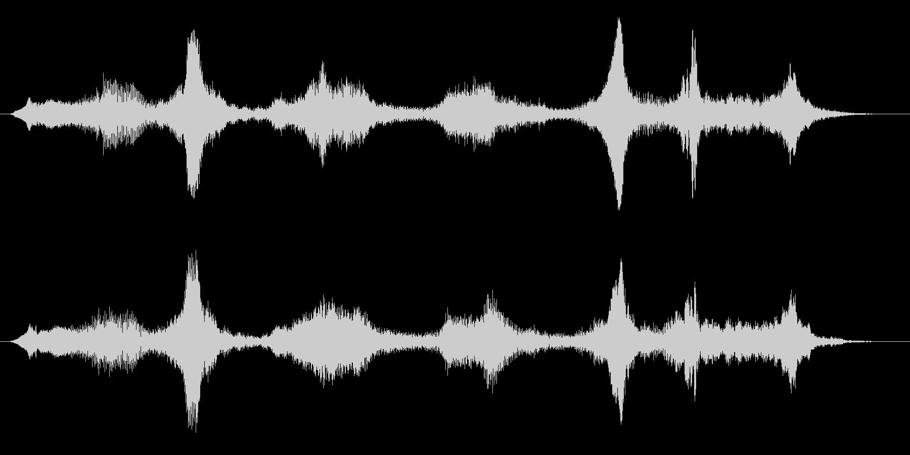 不気味な空気の音 ホワーン 電磁波 未知の未再生の波形