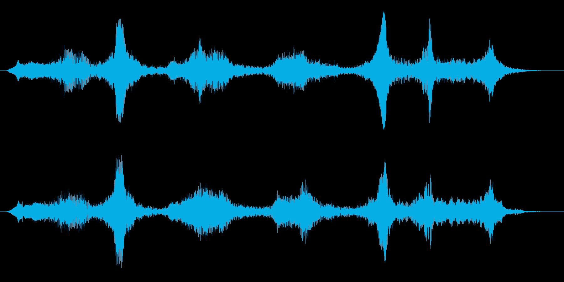 不気味な空気の音 ホワーン 電磁波 未知の再生済みの波形