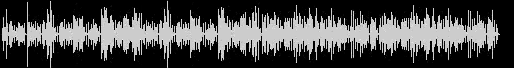 楽しい明るいピアノ曲BGMの未再生の波形
