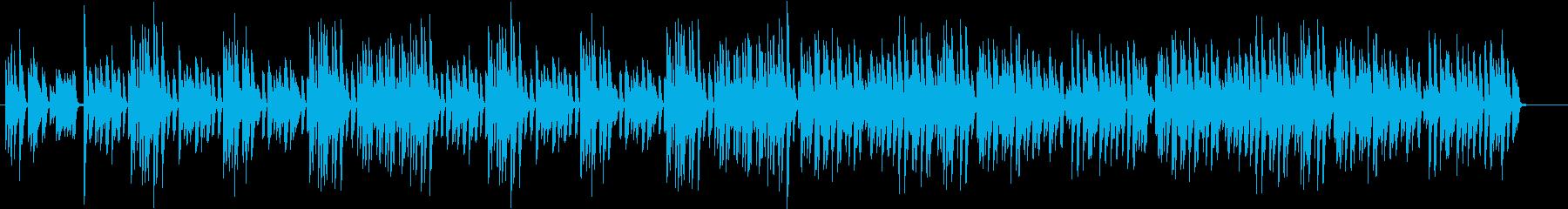 楽しい明るいピアノ曲BGMの再生済みの波形