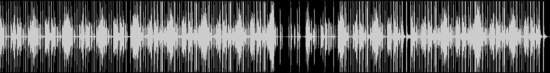 シンセとギターを用いたファニーなBGMの未再生の波形