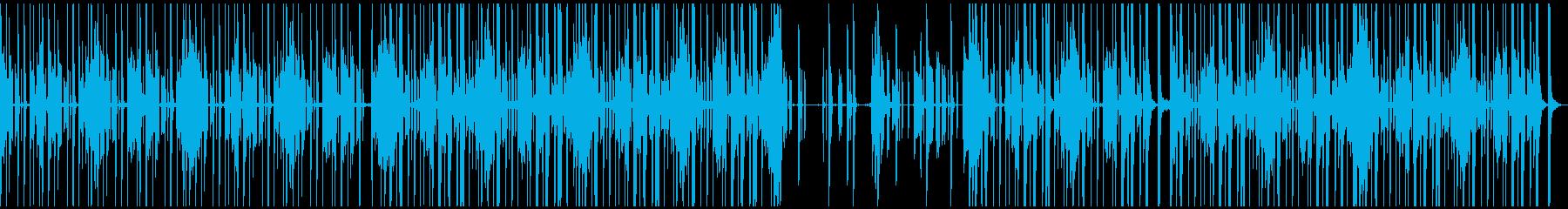 シンセとギターを用いたファニーなBGMの再生済みの波形