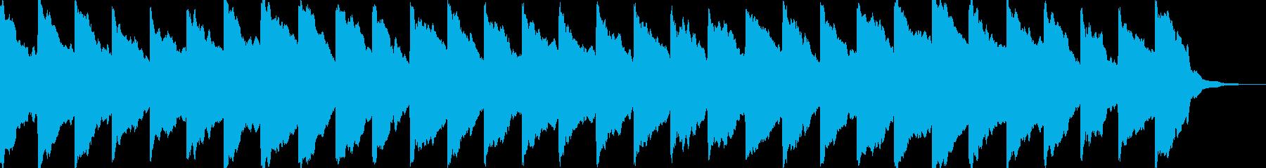 踏み切りの音(ドップラー効果付き)の再生済みの波形