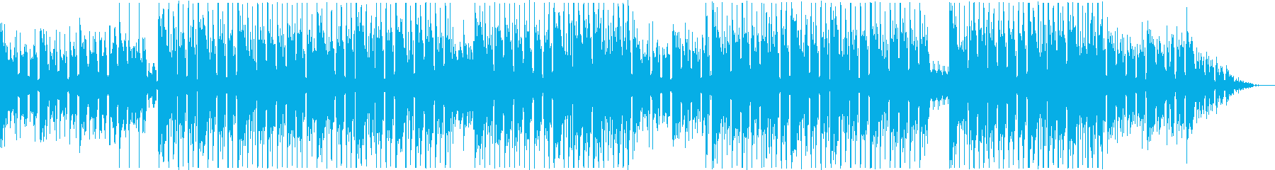 ノイズの音が心地よいLofiHiphopの再生済みの波形