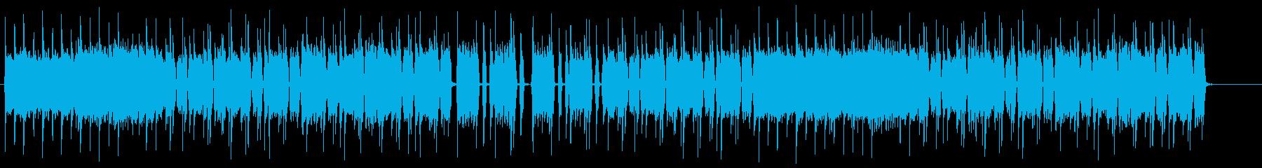 短縮verミドルテンポのヘヴィロックリフの再生済みの波形