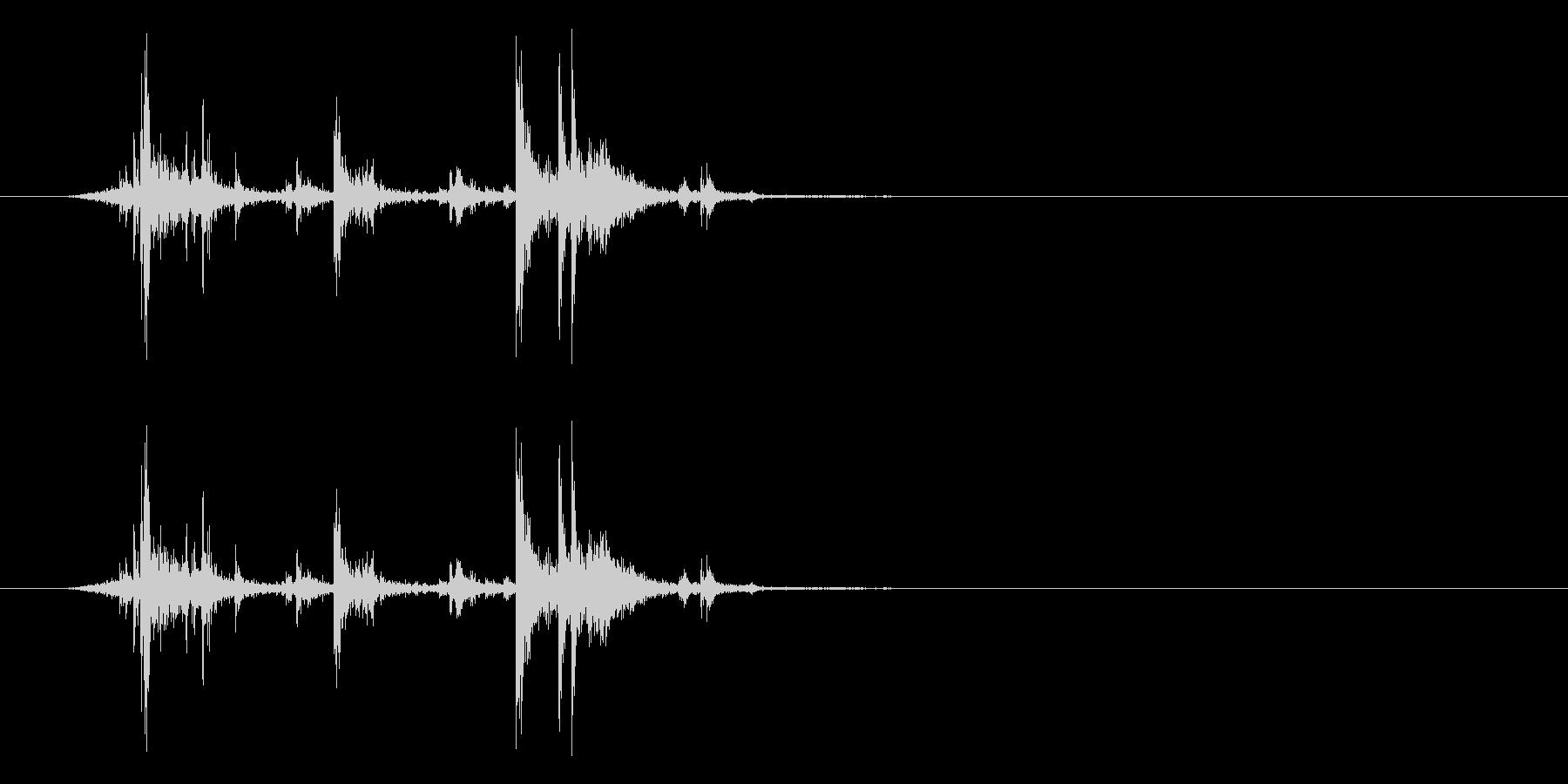 アタッシュケースの留め具を開ける音_2 の未再生の波形