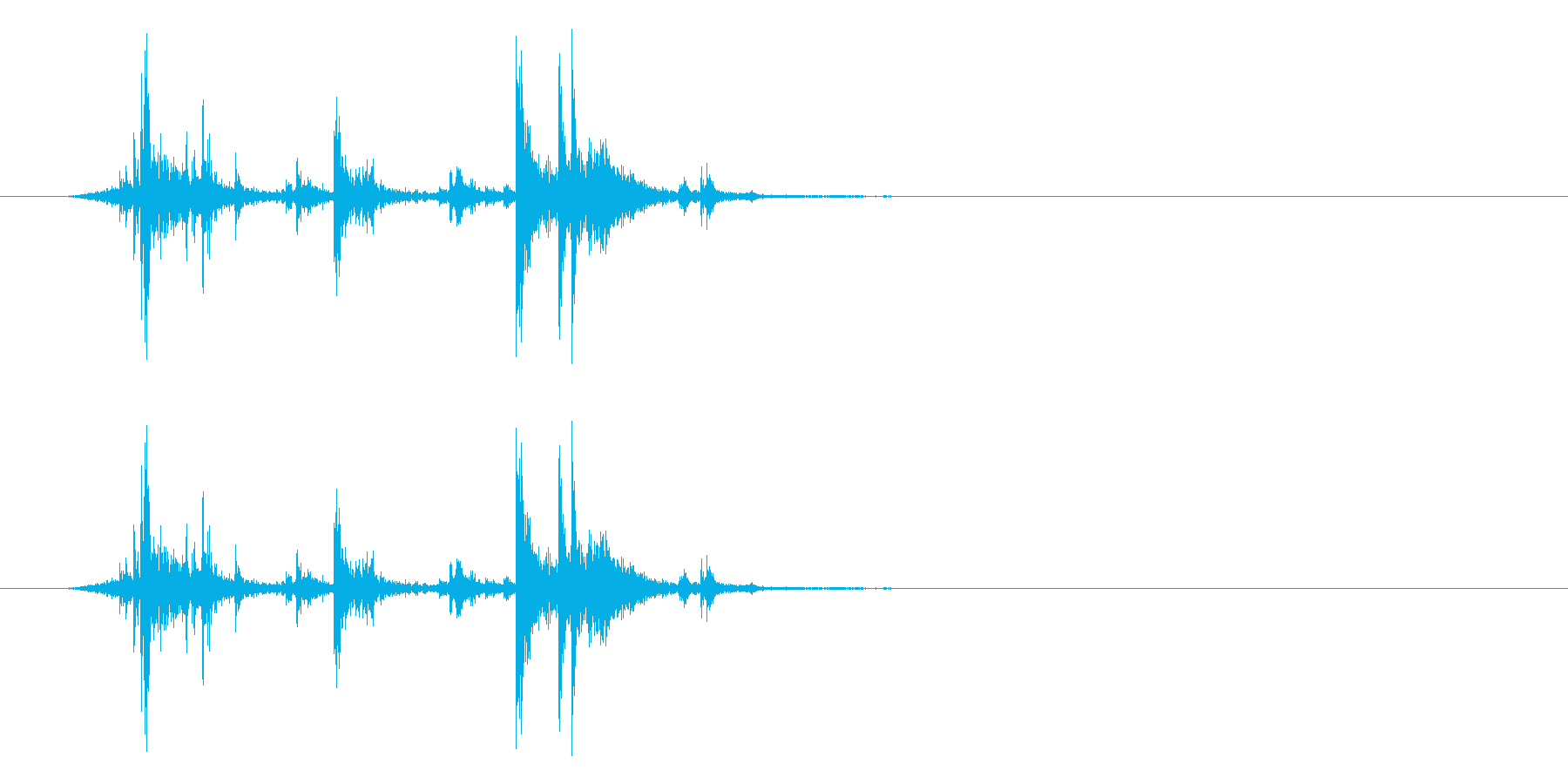 アタッシュケースの留め具を開ける音_2 の再生済みの波形