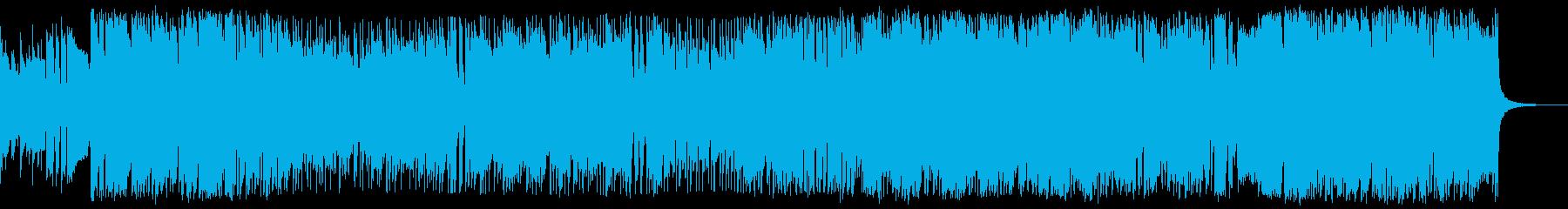 ブラスとストリングスの爽やかなBGMの再生済みの波形