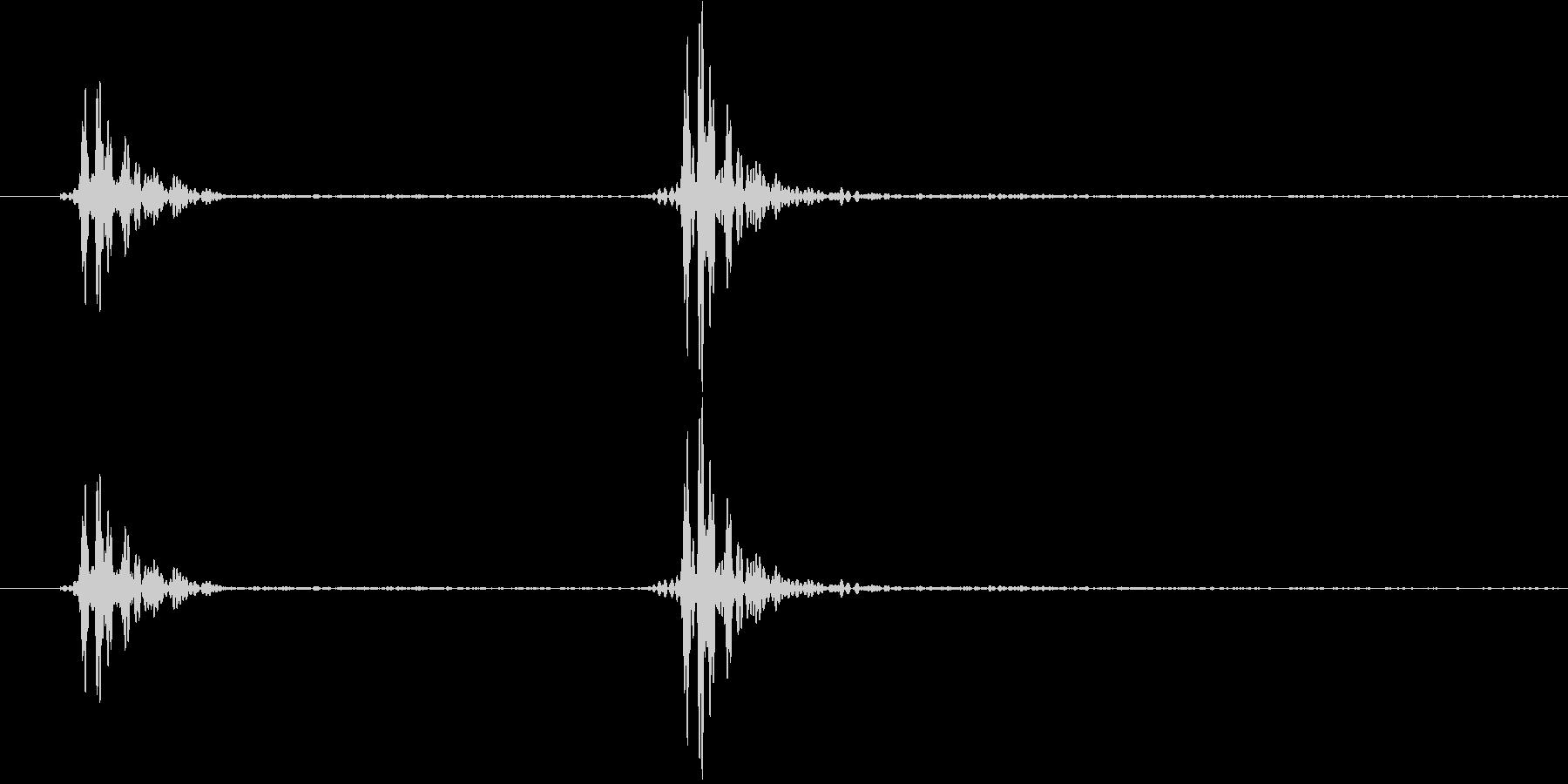 ノック1(軽い・乾いた音) コンコンの未再生の波形