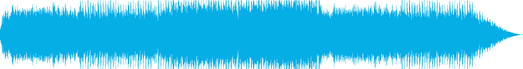 張り詰めた空気感を感じるBGMの再生済みの波形