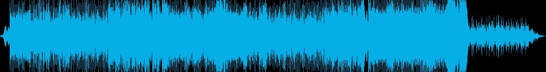 緊張感のあるインストの再生済みの波形