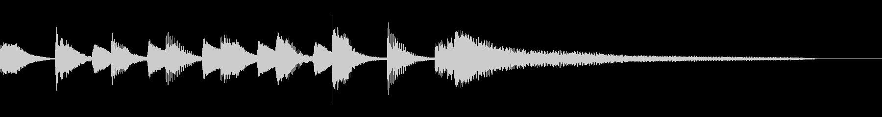 可愛くほのぼのしたピアノのジングルの未再生の波形