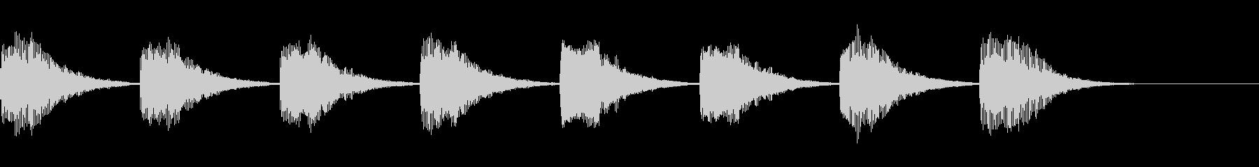 特撮やアニメの警戒音の未再生の波形