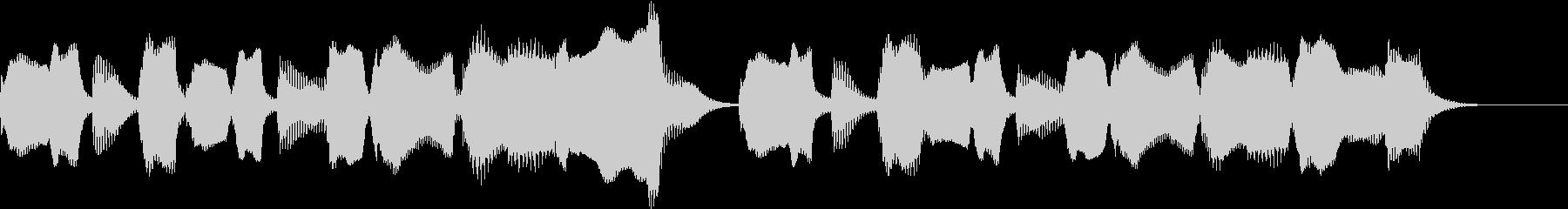 リコーダーとピアノほのぼのとしたジングルの未再生の波形