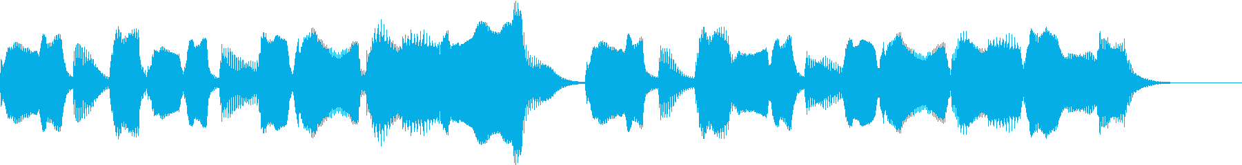 リコーダーとピアノほのぼのとしたジングルの再生済みの波形