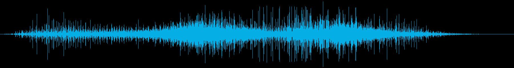 静的なヒューという音の再生済みの波形