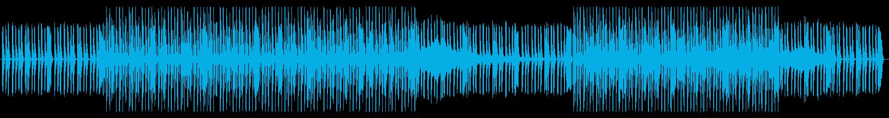 【ニュース】無機質で浮遊感ある報道シンセの再生済みの波形