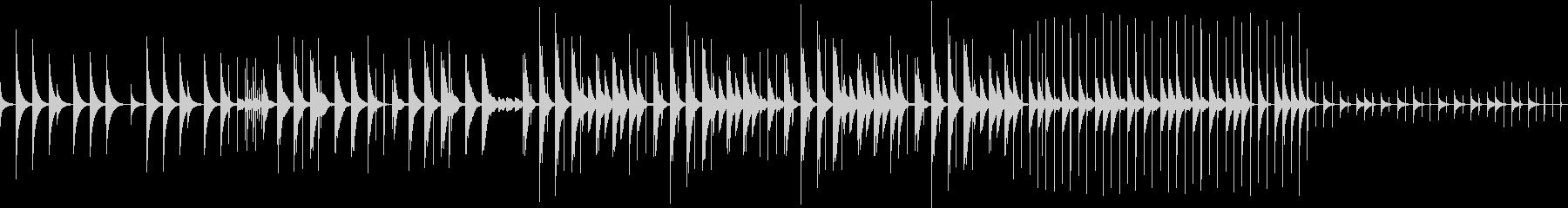 ステレオL Rで楽しめるリズムループの未再生の波形